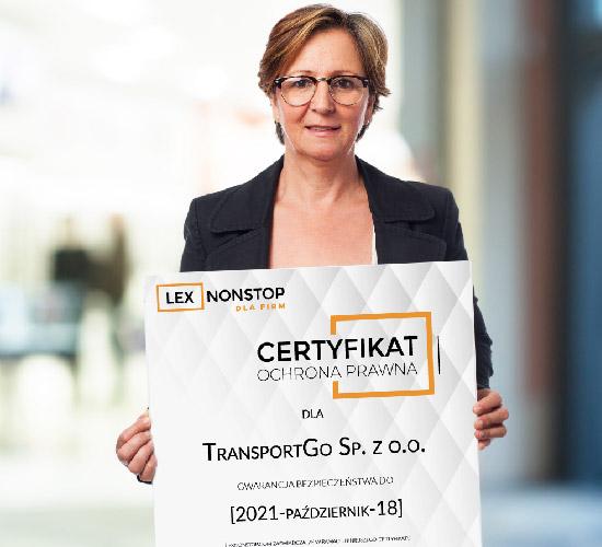 Przedsiębiorca z certyfikatem lexnonstop 1