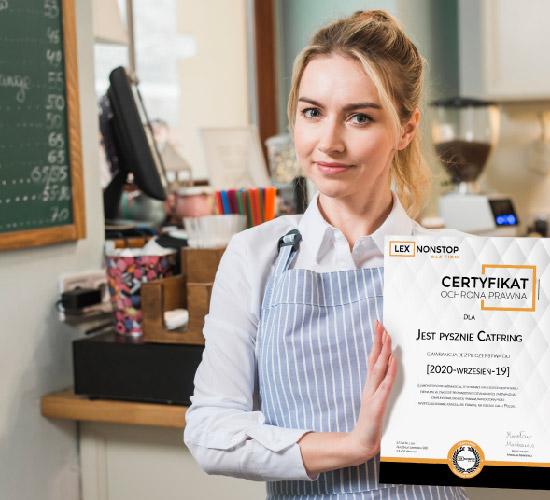 Przedsiębiorca z certyfikatem lexnonstop 7