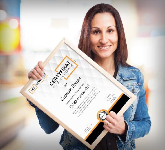 Przedsiębiorca z certyfikatem lexnonstop 8