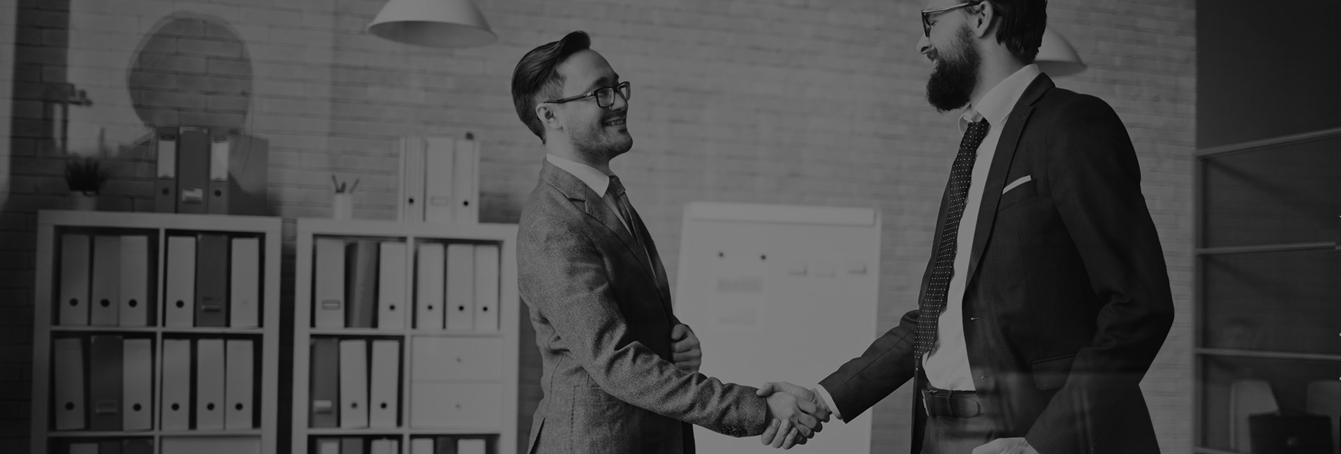 expert and client handshake