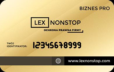 Karta Biznes Pro Front Sample Number